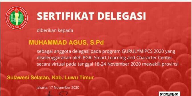 Tetap Berprestasi di Tengah Pandemi, Guru SMPN 1 Mangkutana Raih Medali Perunggu di Ajang Kompetisi GURULYMPICS 2020