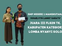 SMP Negeri 1 Mangkutana Juara 3 FLS2N Kategori Lomba Nyanyi Solo